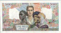France 5000 Francs France and colonies - 25-01-1945  Serial V.218