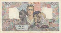 France 5000 Francs France and colonies - 26-07-1945 Serial A.860 - VF - P.103