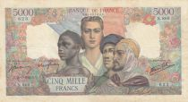France 5000 Francs France and colonies - 26-07-1945 Serial N.860 - VF - P.103