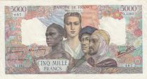 France 5000 Francs France and colonies - 27-09-1945 Serial O.1382 - VF - P.103