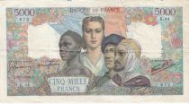France 5000 Francs France and colonies - 28-05-1942 Serial K.44 - Good