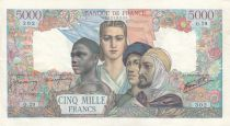 France 5000 Francs France and colonies - 28-05-1942 Serial O.29 - XF