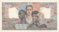 France 5000 Francs France and colonies - 31-05-1946 Serial Y.2448-036