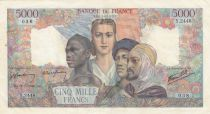 France 5000 Francs France and colonies - 31-05-1946 Serial Y.2448-038