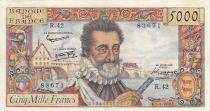 France 5000 Francs Henri IV - 02-01-1958 - Série R.42
