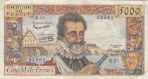 France 5000 Francs Henri IV - 06--03-1958 Série H.51 - TTB