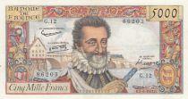 France 5000 Francs Henri IV - 06-06-1957 Seriel G.12 - XF