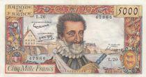 France 5000 Francs Henri IV - 06-06-1958 Série L.20 - TTB +