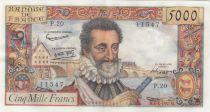 France 5000 Francs Henri IV - 06-06-1958 Série P.20 - SUP +