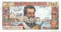 France 5000 Francs Henri IV - 1957