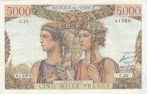 France 5000 Francs Sea and Countryside - 03-11-1949 - Serial C.25 - XF to AU - P.131