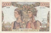 France 5000 Francs Sea and Countryside - 03-11-1949 - Serial R.36 - XF to AU - P.131