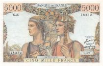 France 5000 Francs Sea and Countryside - 03-11-1949 Serial G.37 - XF