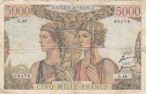 France 5000 Francs Terre et Mer - 01-02-1951 - Série C.48