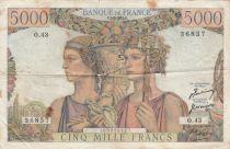 France 5000 Francs Terre et Mer - 01-02-1951 - Série O.43