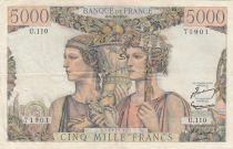 France 5000 Francs Terre et Mer - 02-10-1952 Série  U.110 - TTB +