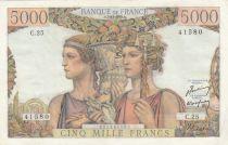 France 5000 Francs terre et mer - 03-11-1949 - Série C.25 - SUP+