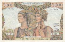 France 5000 Francs Terre et Mer - 04-07-1957 Série  V.171