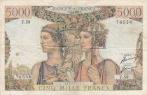 France 5000 Francs Terre et Mer - 05-04-1951 Série  F.59 - TTB