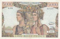 France 5000 Francs Terre et Mer - 06-06-1957 Série  Q.164 - TTB