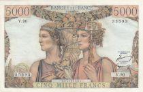 France 5000 Francs Terre et Mer - 07-02-1952 Série V.90