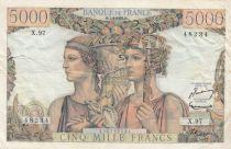 France 5000 Francs Terre et Mer - 07-02-1952 Série X.97