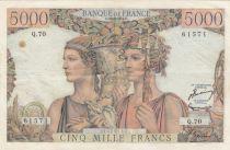 France 5000 Francs Terre et Mer - 16-08-1951 Série Q.10