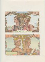 France 5000 Francs Terre et Mer - Planche Spécimen - 1967