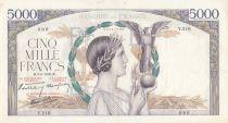 France 5000 Francs Victoire - 08-06-1939 Série Y.216 - TTB