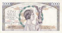France 5000 Francs Victoire - 08-06-1939 Série Y.217 - TTB