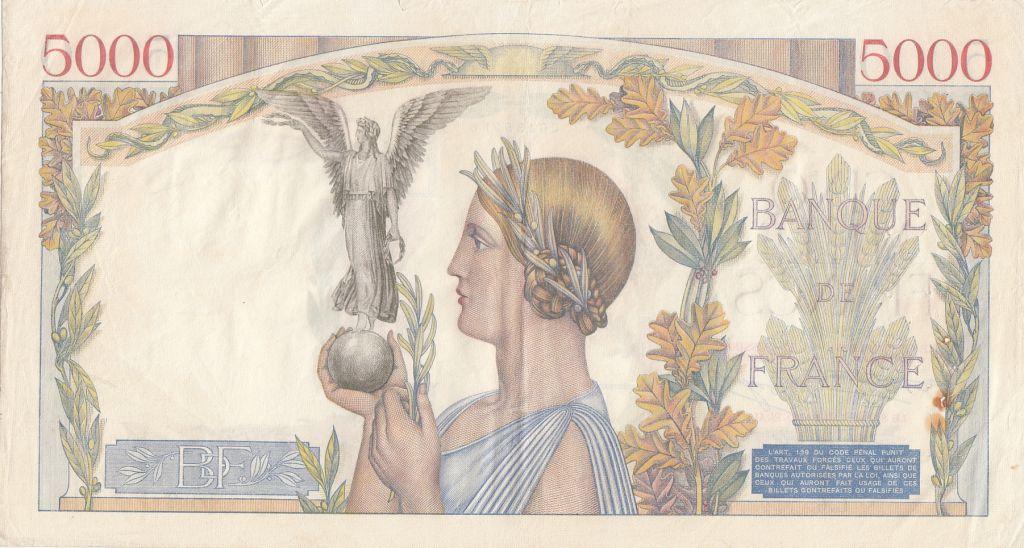 France 5000 Francs Victoire - 08-11-1934 Série L.6