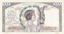 France 5000 Francs Victoire - 08-12-1938 Série G.68 - TTB