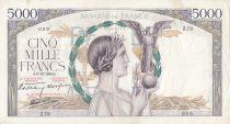 France 5000 Francs Victoire - 08-12-1938 Série HZ.78 - TTB