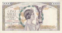 France 5000 Francs Victoire - 12-10-1939 Série L.387 - TTB