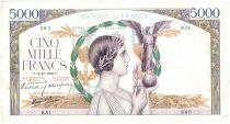 France 5000 Francs Victoire - 13-10-1938 Rare