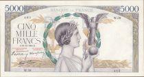 France 5000 Francs Victoire - 13-10-1938 Série W.38 - TTB+