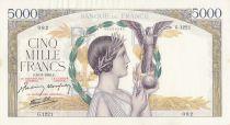 France 5000 Francs Victoire - 18-03-1943 Série G.1221 - TTB+
