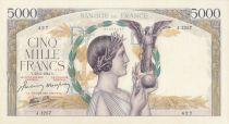 France 5000 Francs Victoire - 23-03-1944 Série J.1257 - PSPL