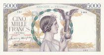 France 5000 Francs Victory - 19-09-1941 Serial L.684 - XF+