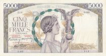 France 5000 Francs Victory - 19-12-1940 Serial D.465