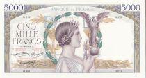 France 5000 Francs Victory - 1934 - Specimen - UNC - P. 91