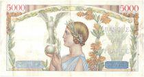 France 5000 Francs Victory - 1938-10-13 Scarce