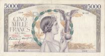 France 5000 Francs Victory - 25-05-1939 Serial W.187