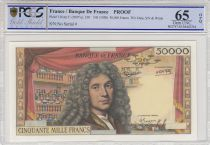 France 50000 Francs Molière - Proof  -  P.136A - PCGS 65 OPQ