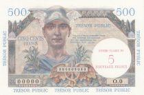France 5NF / 500 Francs Mercure, Trésor Public - 1960 - Spécimen - NEUF