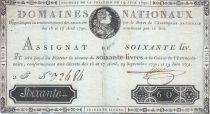 France 60 Livres - 19 Juin 1791 - Sign. NIEL 2 F.