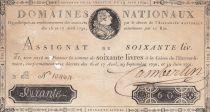 France 60 Livres Louis XVI - 19-06-1791 Série 2B - Sign. Camberlin - PTB