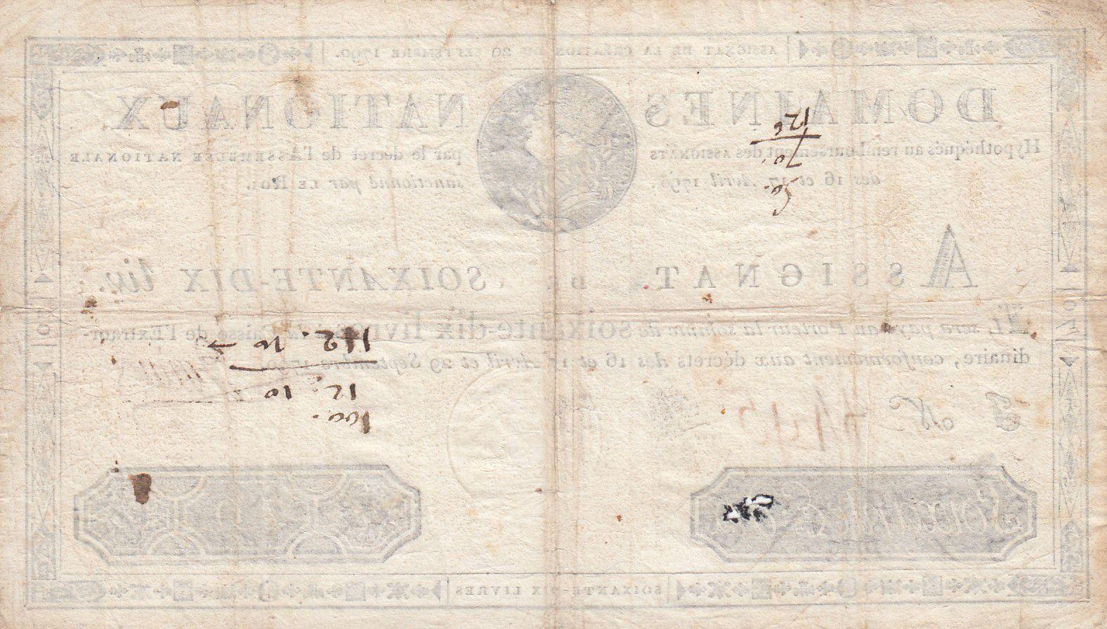 France 70 Livres Louis XVI - 29-09-1790 Série J - Sign. Jullien - PTTB