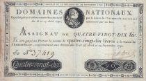 France 90 Livres - 29 Septembre -1790 - Sign. LEFEBVRE - A N°37419