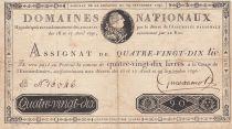 France 90 Livres Louis XVI - 29-09-1790 Série F - Sign. Guillaumot - PTTB